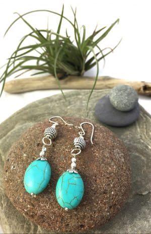 Fair Trade bead earrings handcrafted in Nepal.