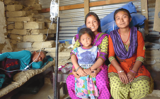 Rural health clinic in Baseri, Nepal, by nonprofit Conscious Connections Foundation